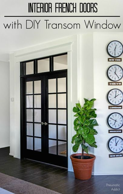 How To Build And Install DIY Transom Window Over Interior French Doors