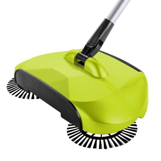 New Stainless Steel Sweeping Machine Push Type Hand Push Magic Broom Dustpan Handle Household Cleaning Package Cleaning Household Sweeping Broom Sweeper Broom