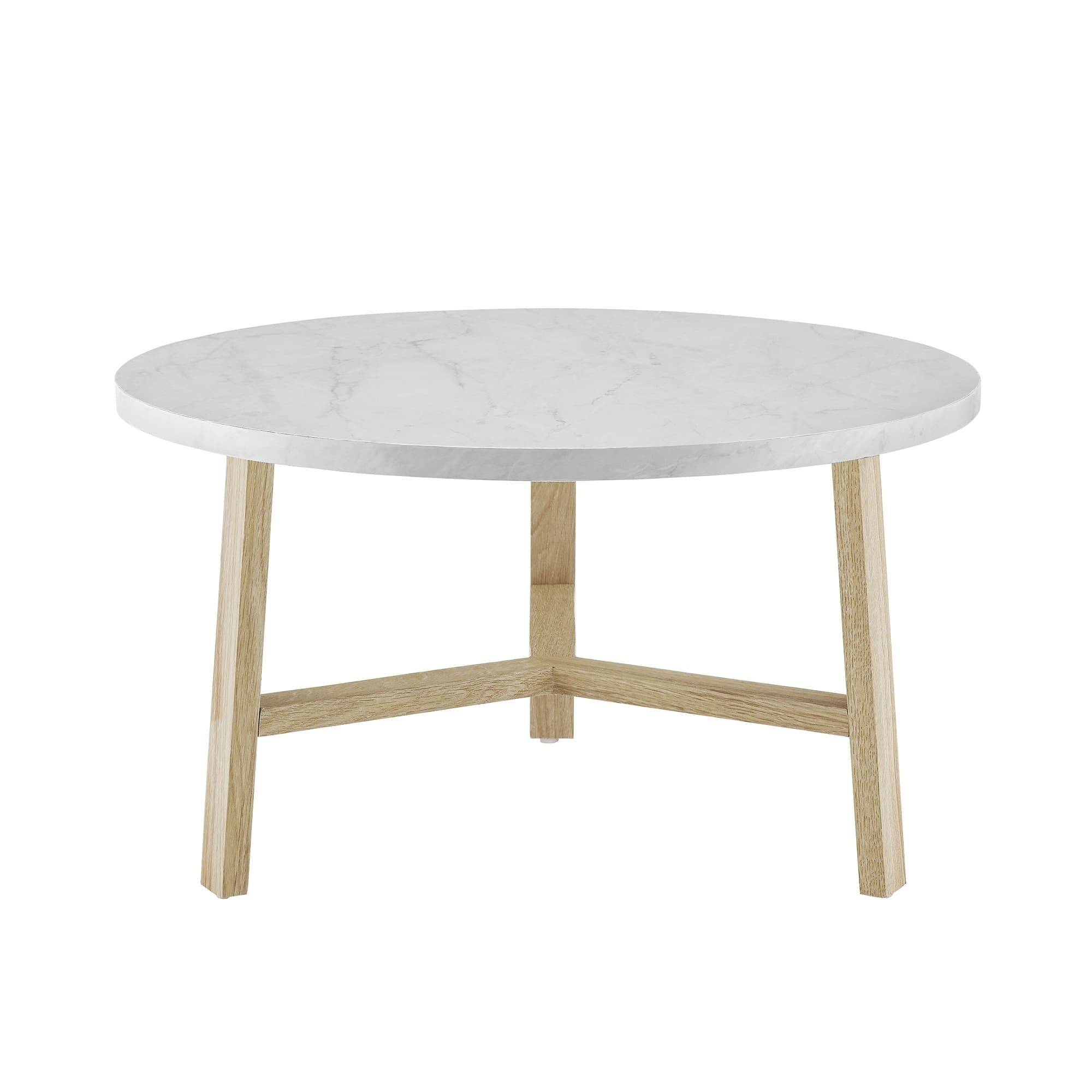 Mid Century Modern Round Coffee Table 30 Inch With Images