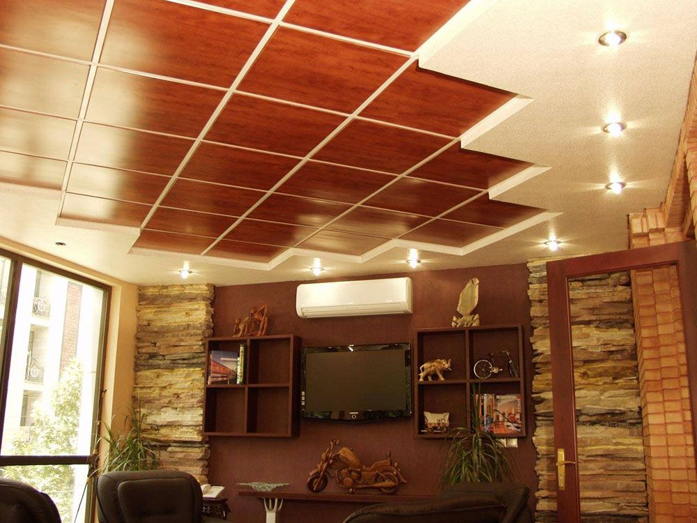 Decorations Accessories Interior False Dropped Ceiling With Asymetric