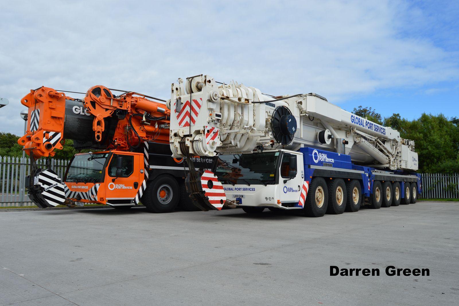 Global port services gruas maquinaria pesada camiones