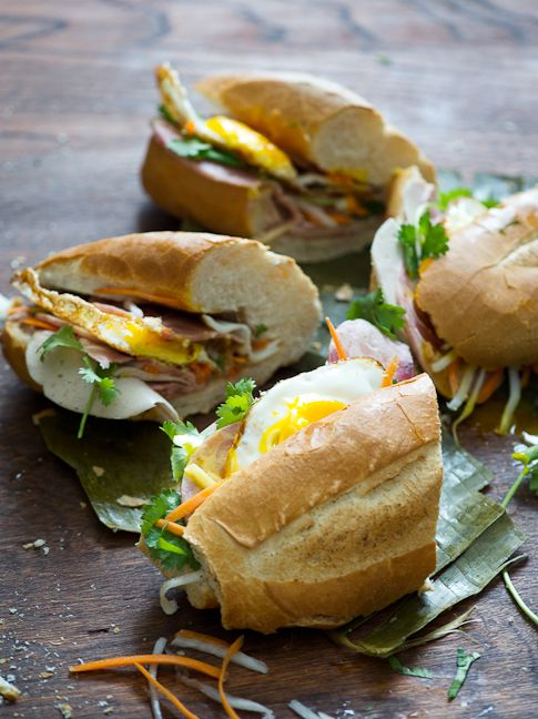 homemade banh mi along with a funny post. #food