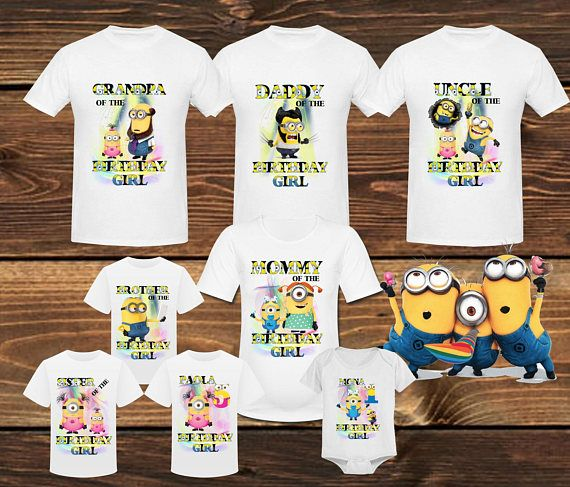 Minions Birthday Shirt Family T Party Mini