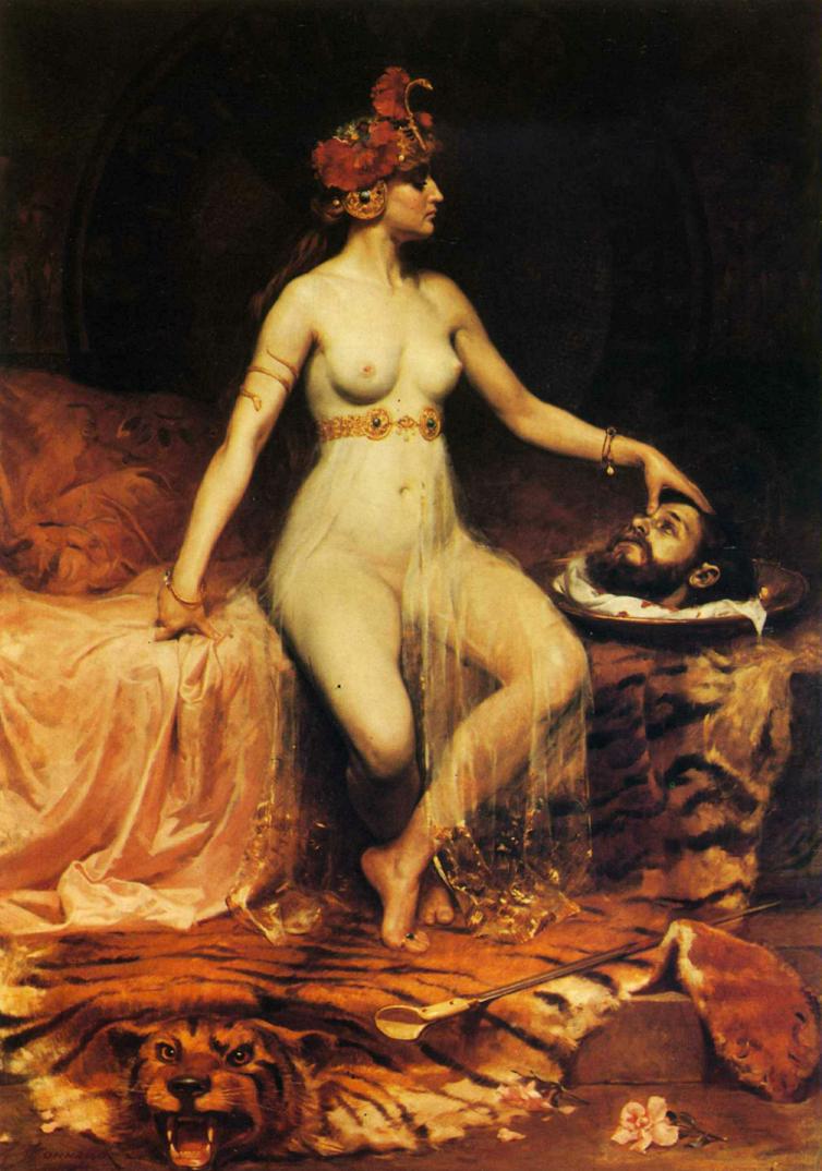 """""""Shlomit."""" Painting- """"Salomé"""" by Pierre Bonnaud, c.1900 (Oil on canvas)"""