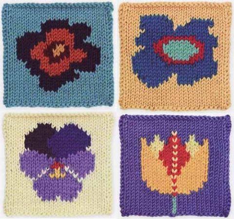 квадратные мотивы с цветами