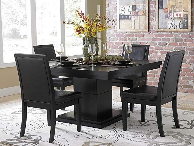 Cicero 5 Piece Dining Table Set By Home Elegance In Black Review
