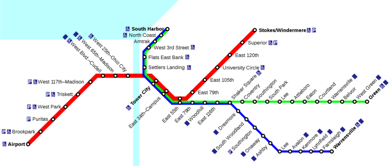 U Bahn Von Cleveland Metros Undergrounds And Subways