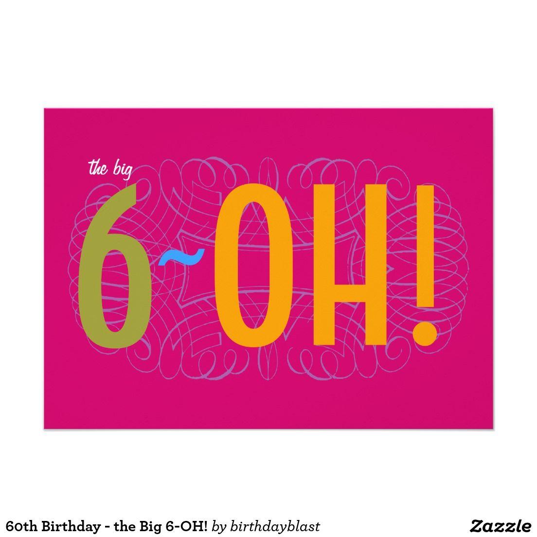 60th birthday the big 6 oh card turning 60 pinterest 60th birthday the big 6 oh card kristyandbryce Image collections