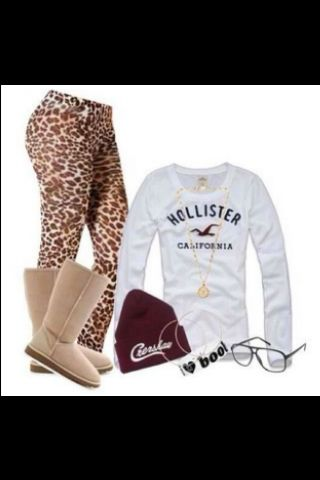 Outfit school winter fall except for the leopard leggings put in some  blue skinny jeans