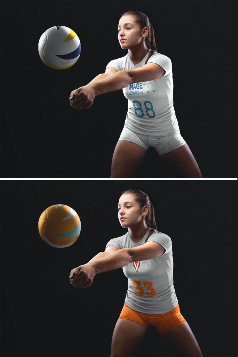 Placeit Volleyball Jersey Maker Woman Receiving The Ball Volleyball Jerseys Volleyball Jersey Design Jersey Design