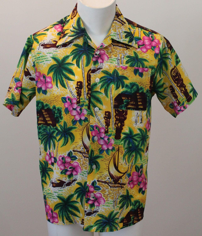 Vintage Hawaiian Shirt by Waikiki 7s sz M/L 44 | Vintage
