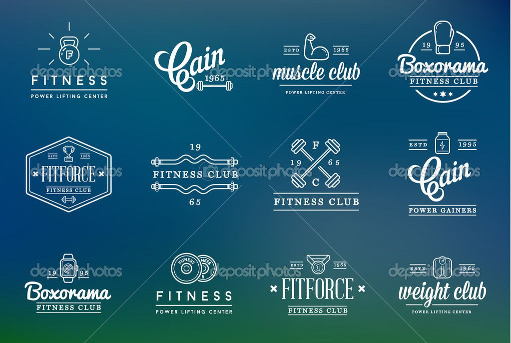 130 Fitness Logo Ideas Inspiration For Gyms Personal Trainers Fitness Logo Gym Personal Trainer Aerobics Workout