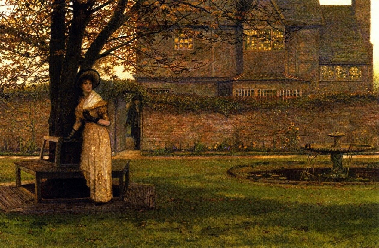 Welcome Footsteps by John Atkinson Grimshaw, 1883.