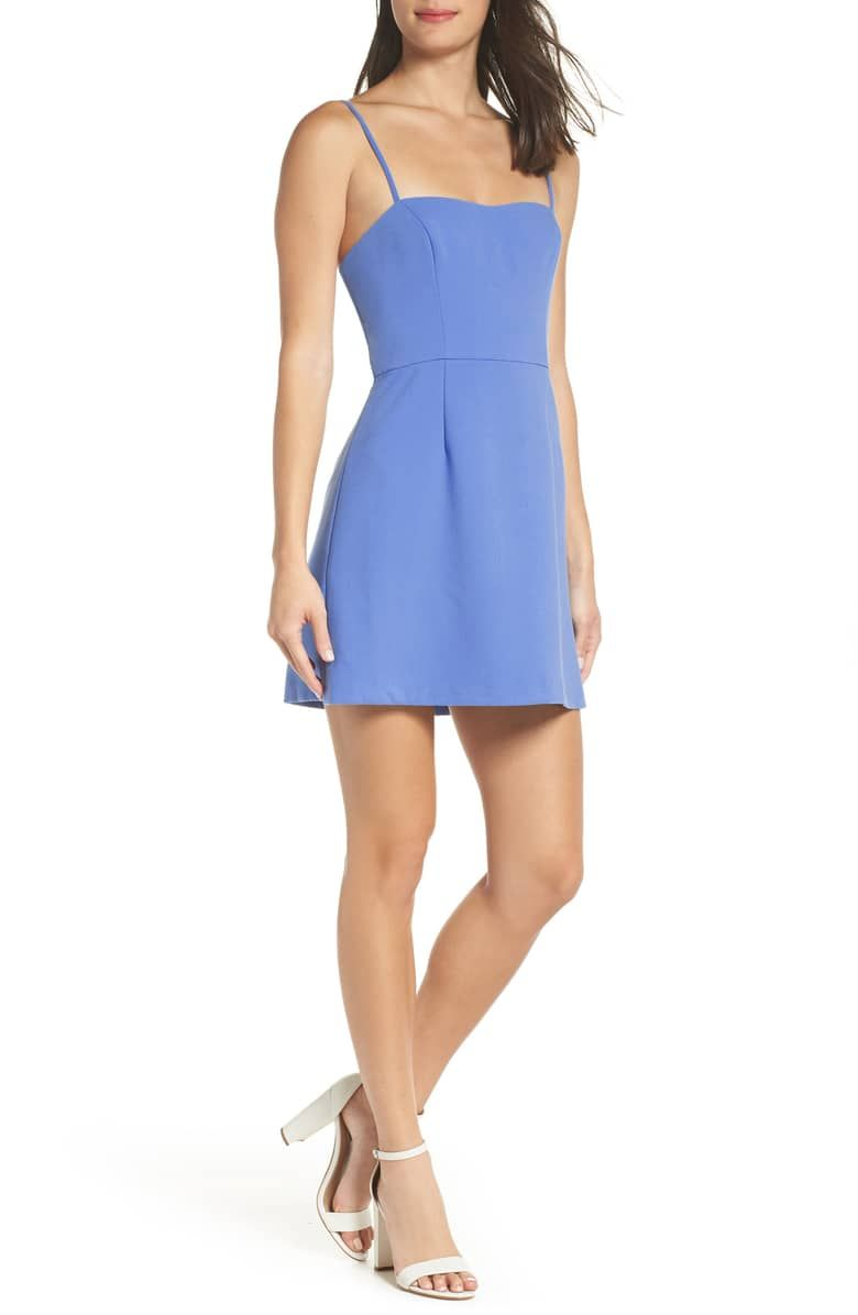 02776dfa45e Whisper Light Sweetheart Minidress, Main, color, TIVOLI BLUE | treat ...