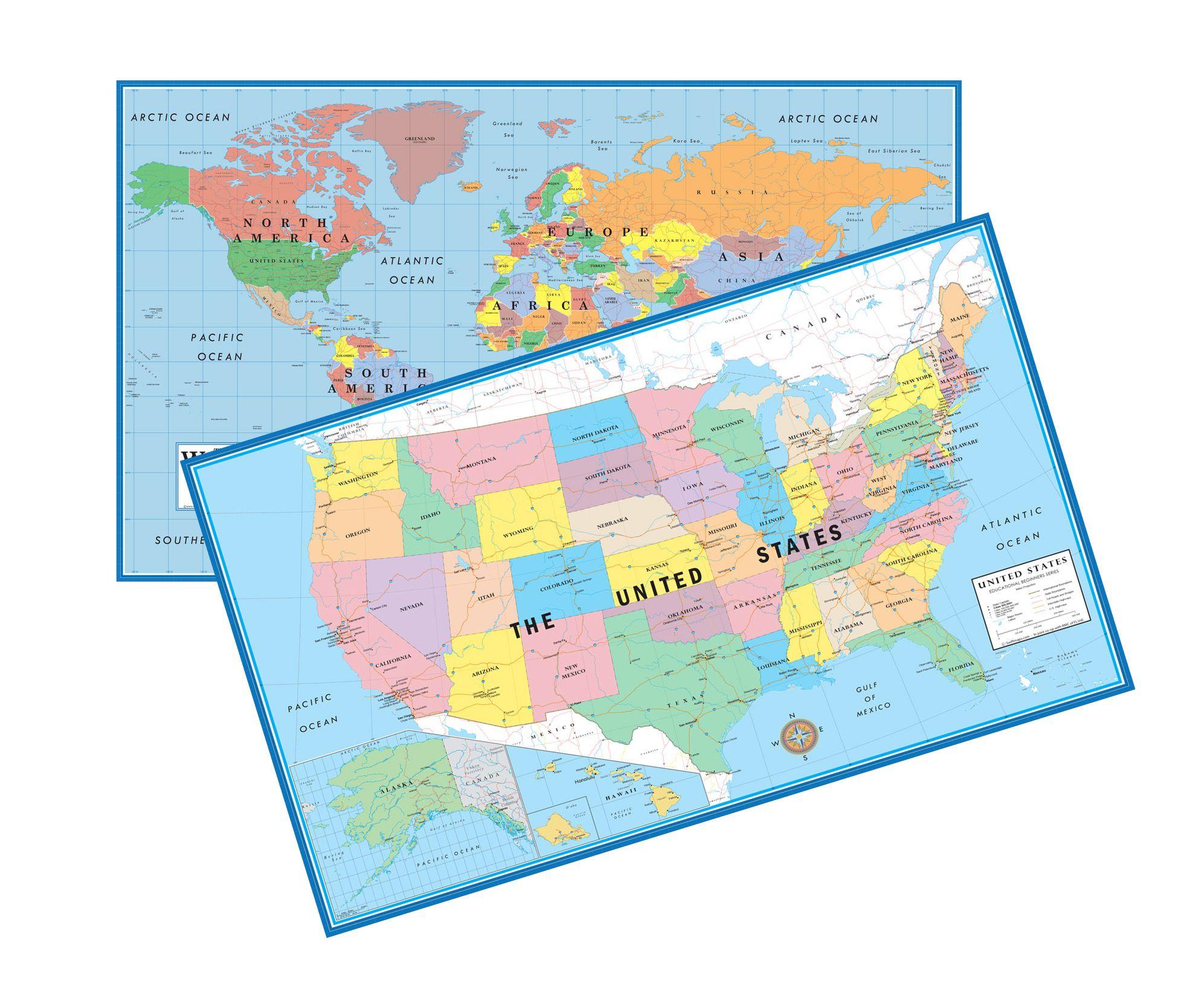 world usa educational beginners level k 4 desktop on laminated wall maps id=66608