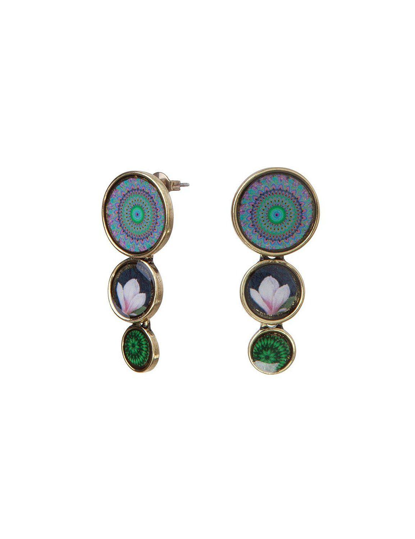 Desigual - Boucles d'oreilles pendantes - Métal - 57G55F65016U: Amazon.fr: Bijoux