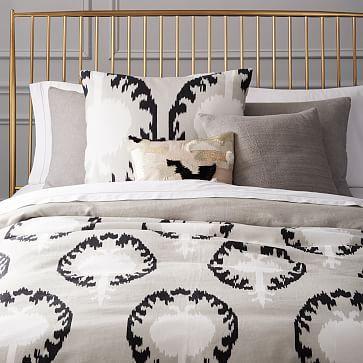 Turkish Linen Duvet Cover + Shams - Light Gray #westelm