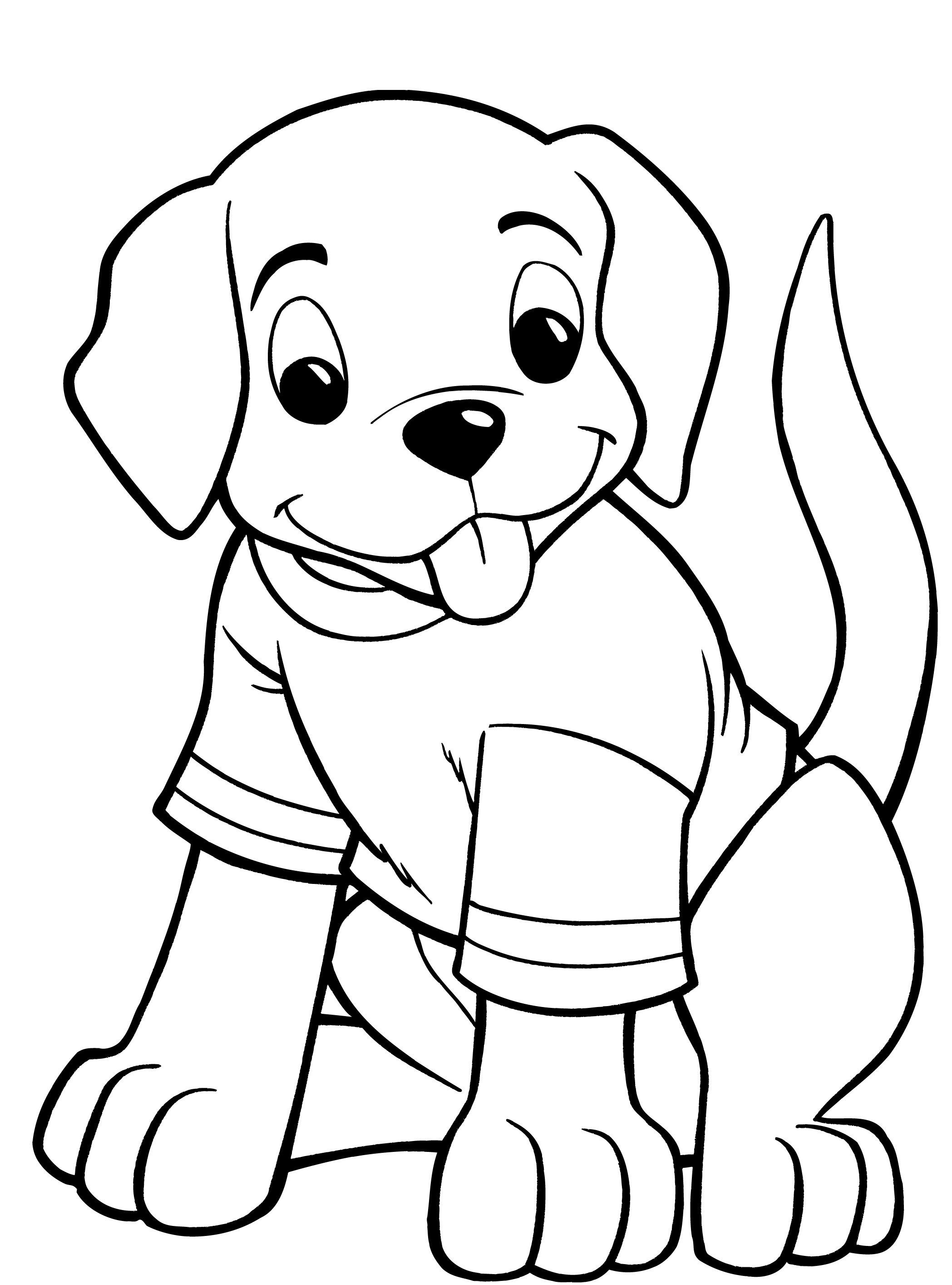 Dog Coloring Pages For Kids - Preschool and Kindergarten | Dog ...