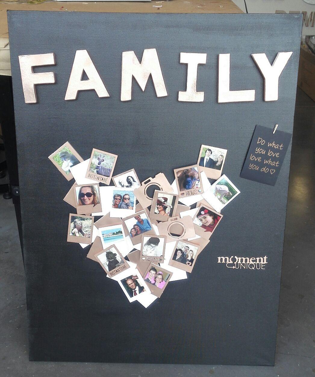 """DIY : Chassis """" photos de famille"""" en 3D (Blog Zôdio)"""