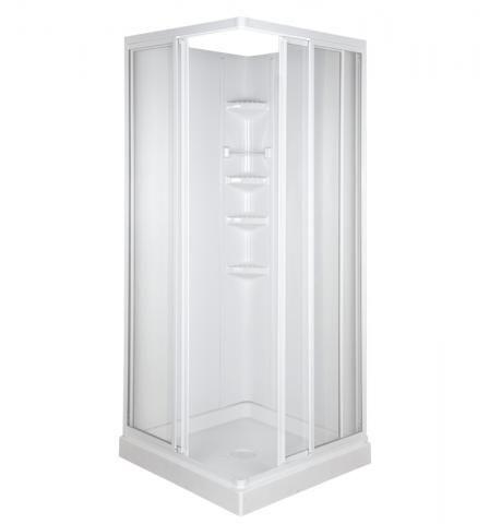 32 Corner Entry Shower Kit White Clear Corner Shower Kits Corner Shower Corner Shower Stalls