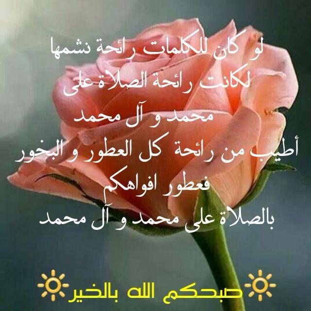 لو كان للكلمات رائحة نشمها لكانت رائحة الصلاة على محمد و آل محمد أطيب من رائحة كل العطور و البخور فعطور افواهكم بالصلاة على محمد My Love Writing Rose