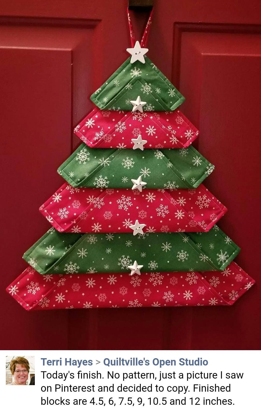 Pin By Janice Kent On Christmas Christmas Tree Decorations Diy Fabric Christmas Trees Christmas Tree Crafts