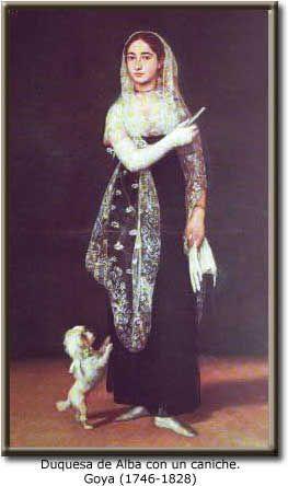 el perro y el arte 39 duquesa de alba con un caniche 39 cuadro de goya dogs 39 the best man s. Black Bedroom Furniture Sets. Home Design Ideas