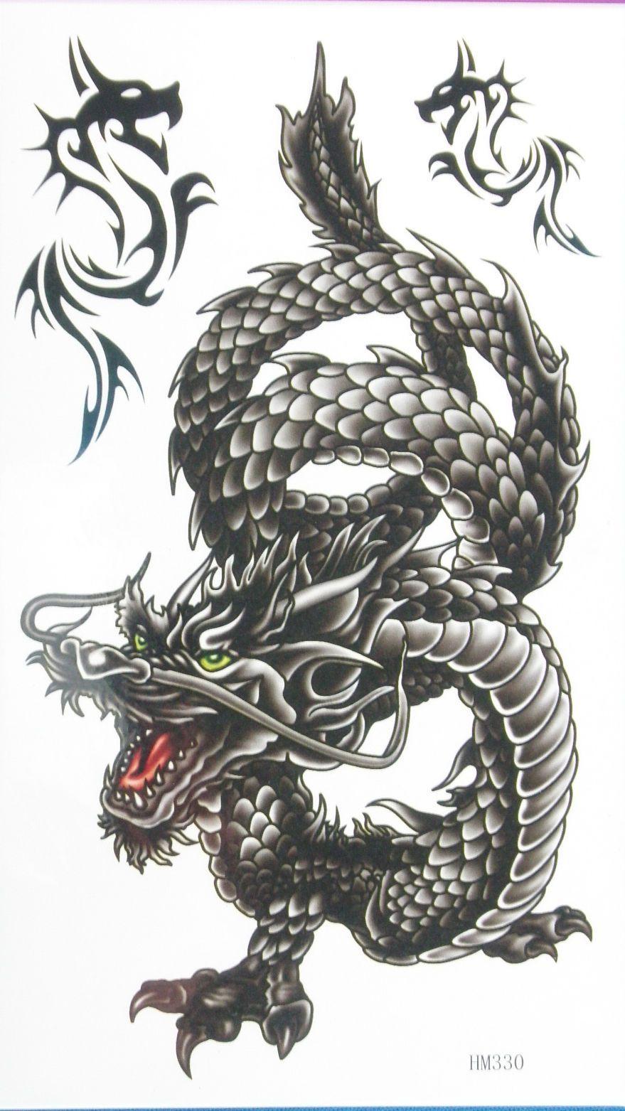Photo of Large Dragon Non Glitter Temporary Tattoos Hm330 Arrival!! #ebay #Fashion