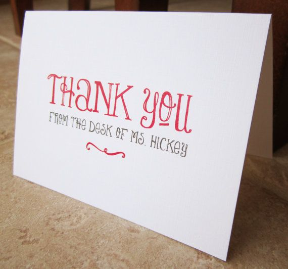 Personalized Stationery Gifts for Teacher, Boss, Friend, Family - thank you note to boss