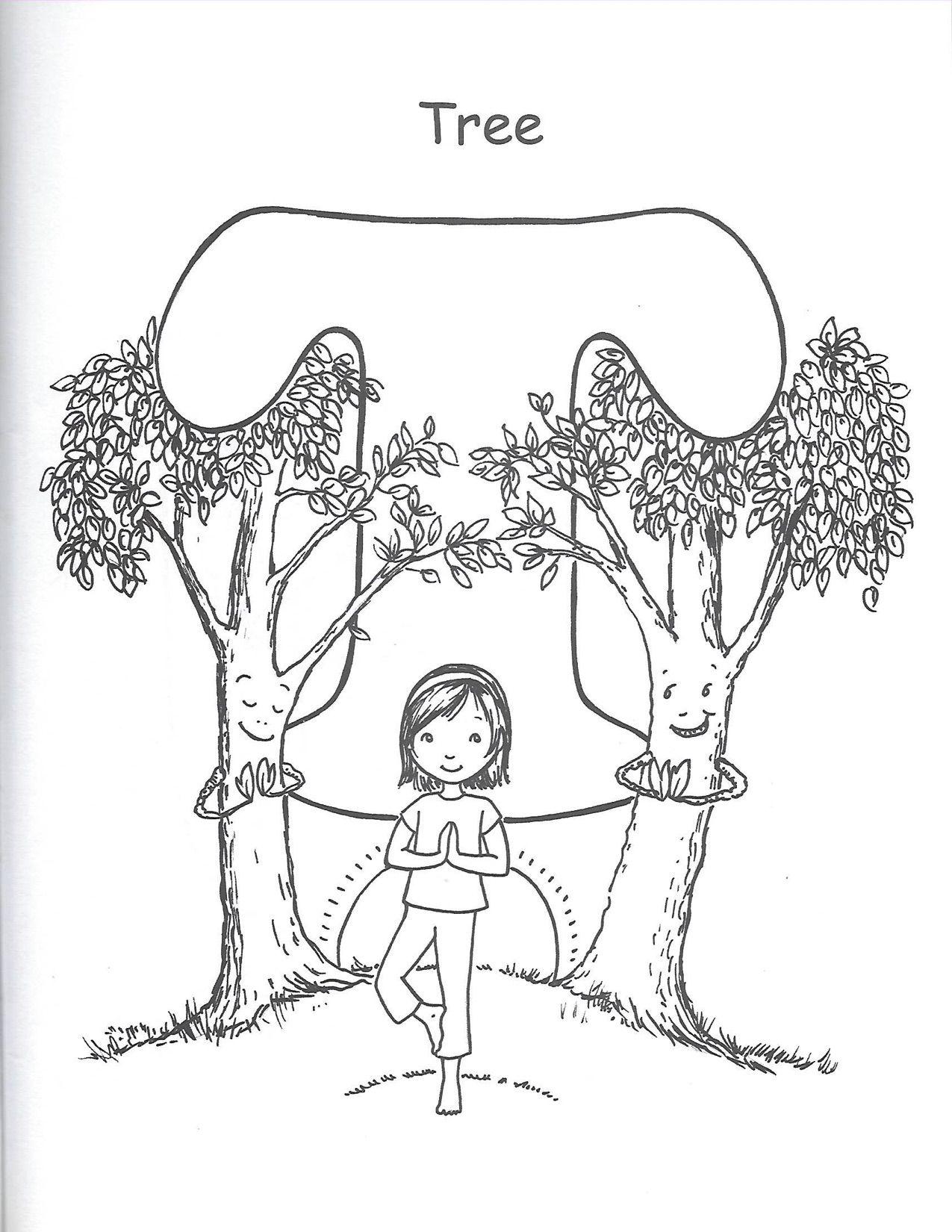 T Tree Yoga For Kids Kids Yoga Poses Printables Free Kids [ 1650 x 1275 Pixel ]