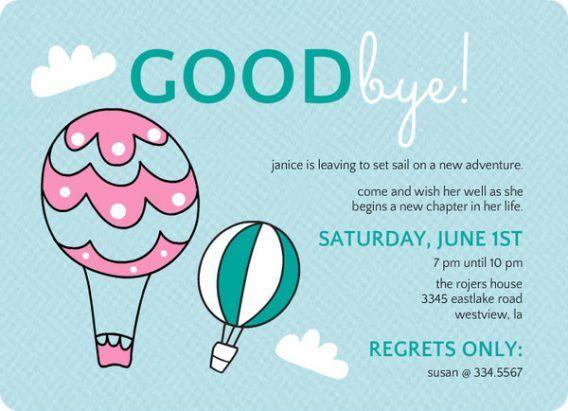 Free Online Farewell Invitation Maker