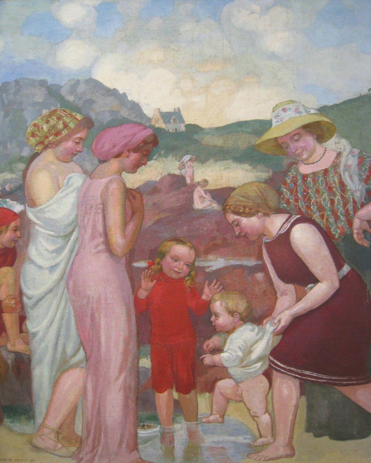 Famille au bord de la mer, Maurice Denis