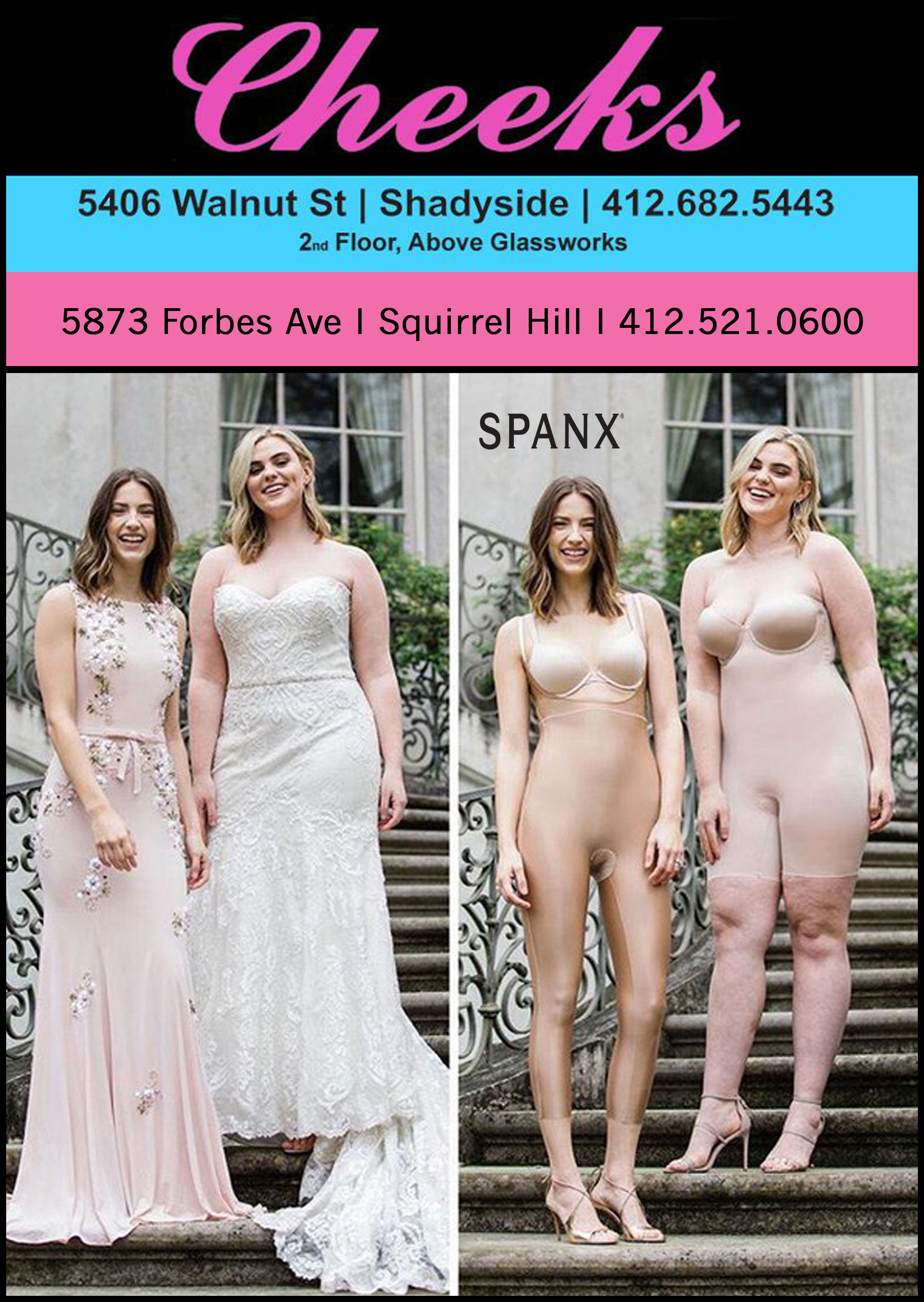 9abce1b7aa630 Spanx Galore At Cheeks! Getting ready for a wedding the last thing you need  to worry about is your underwear! Cheeks carries several different Spanx  styles ...