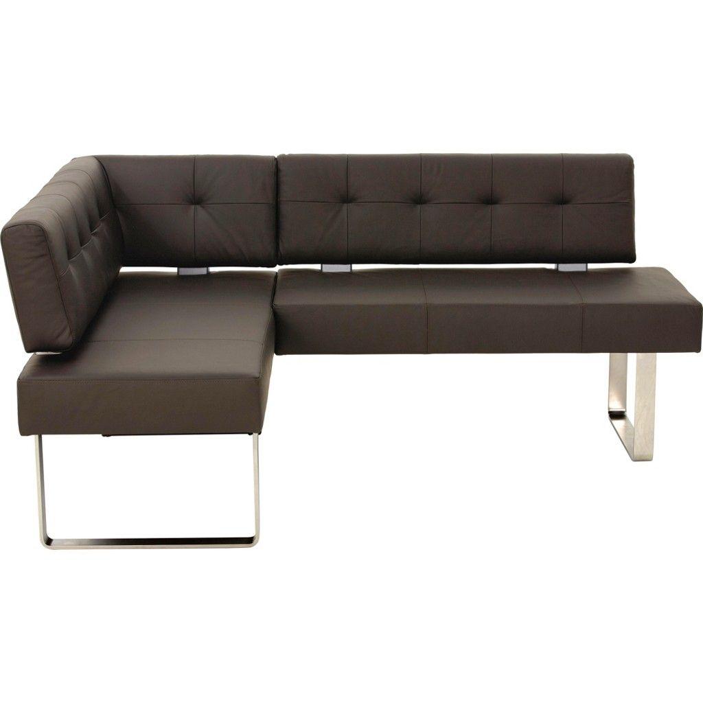w ssner eckbank leder metall braun jetzt bestellen unter. Black Bedroom Furniture Sets. Home Design Ideas