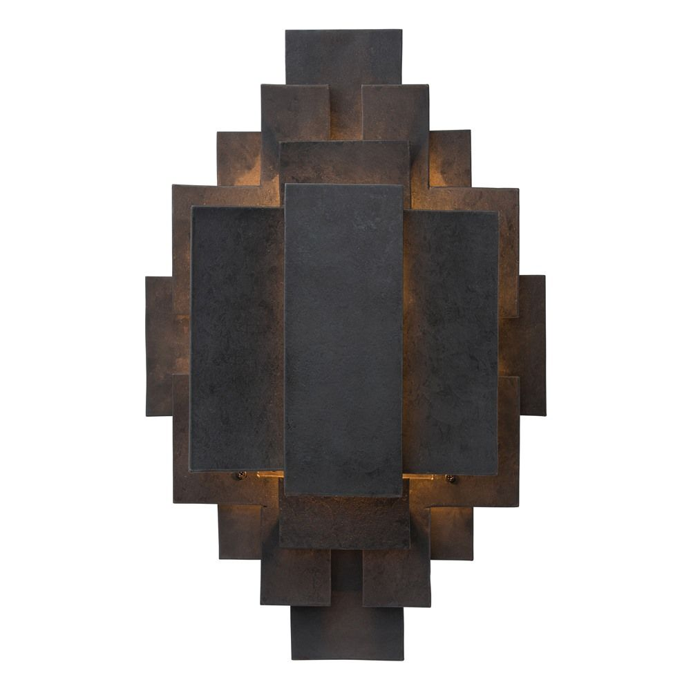 Arteriors sconce wall lamp sconces pinterest lights cabin inspired by the brutalist movement this one light iron sconce is crafted out of hand cut geometric shapes welded together into a tribal like pattern arubaitofo Gallery