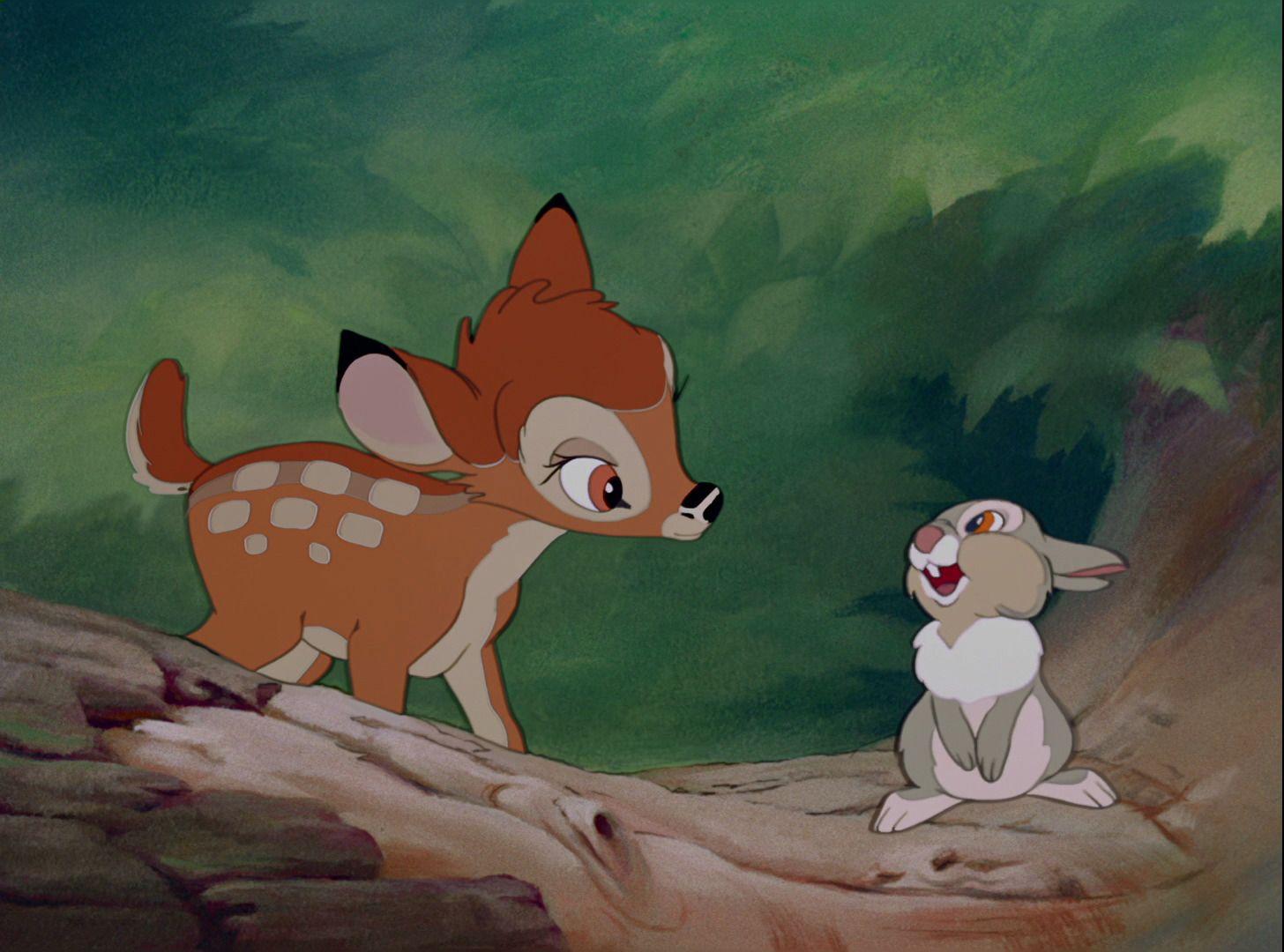 Bambi 1942 Disney Screencaps Com Bambi And Thumper Bambi Disney Cute Cartoon Wallpapers