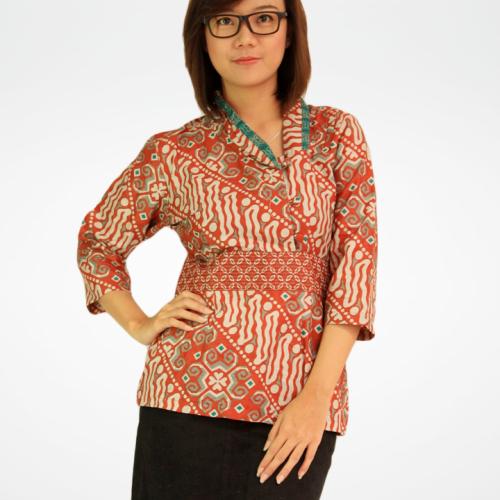 Model Baju Batik Modern Untuk Kerja Wanita: MODEL BAJU BATIK YANG COCOK UNTUK GURU