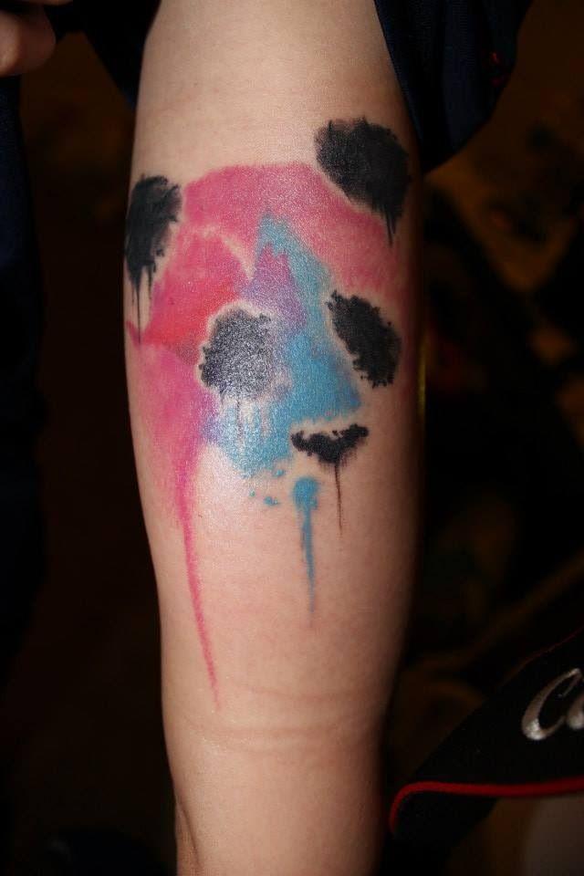 Tatuaje Panda Acuarela my water colored panda tattoo :) | party! | pinterest | tatuajes