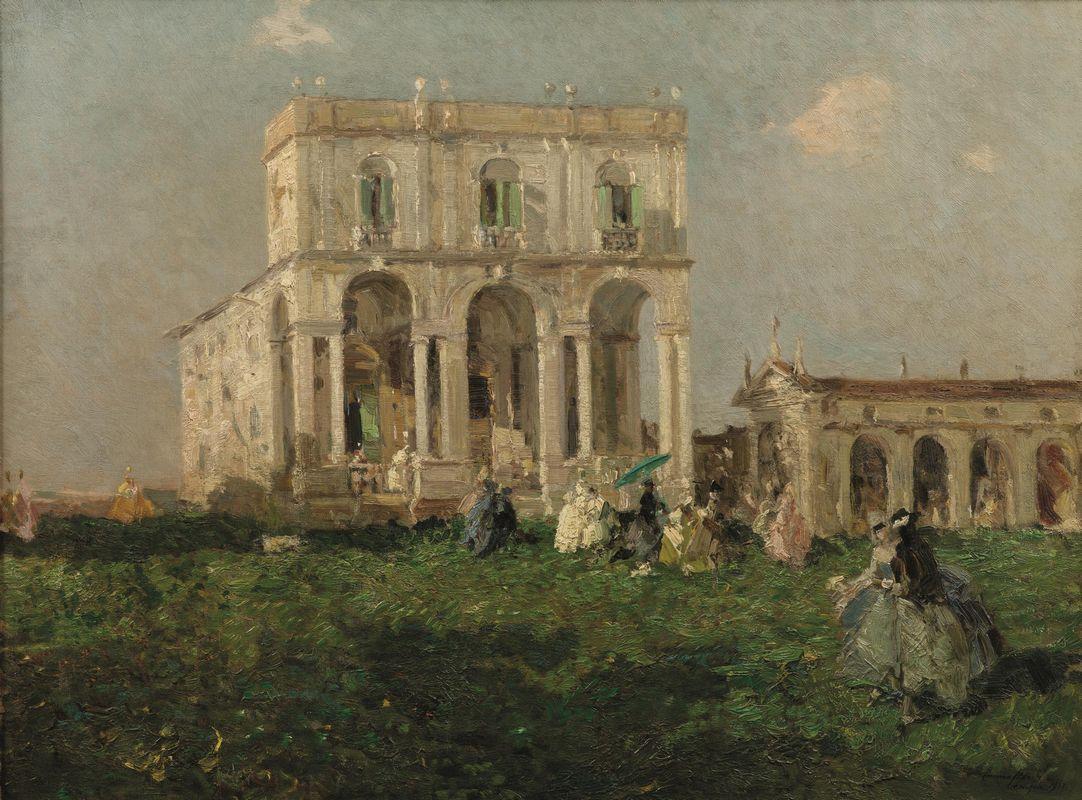 Emma Ciardi (It, 18791933) Villa Priuli 1913 olio