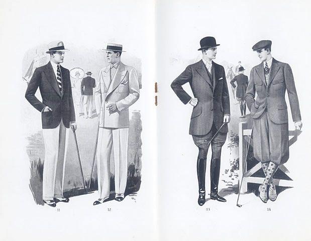 La Mode Française Officielle 1929 Spring and Summer Mode Masculine Men's Clothing — vintage magazine