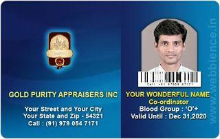Horizontal Id Card Template   Horizontal Id Card Template