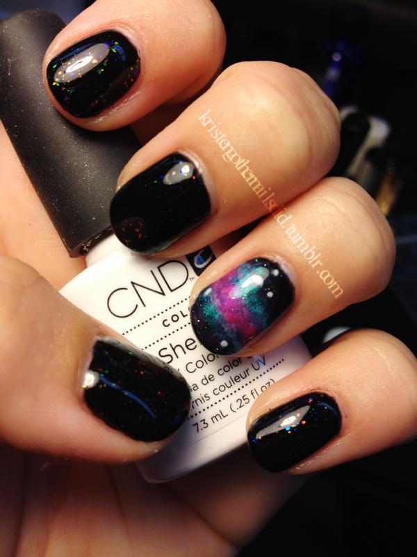 Galaxy Nails done with Gel Polish! | Stylin Claws | Pinterest ...