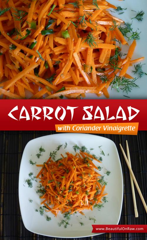 Carrot Salad with Coriander Vinaigrette | Beautiful on Raw