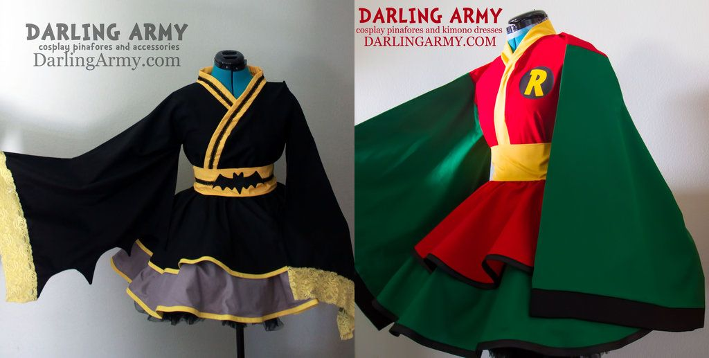 Robin Batman Cosplay Kimono Dress by DarlingArmy.deviantart.com on @DeviantArt