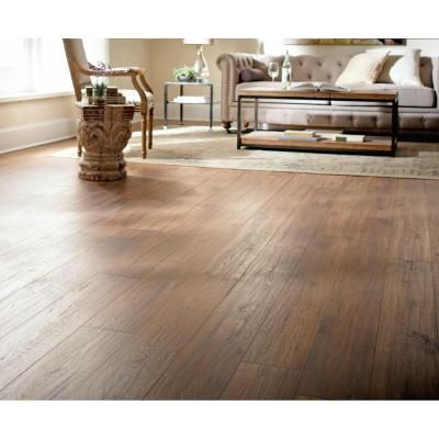 Home Decorators Collection Distressed Brown Hickory 12 mm Thick x 6