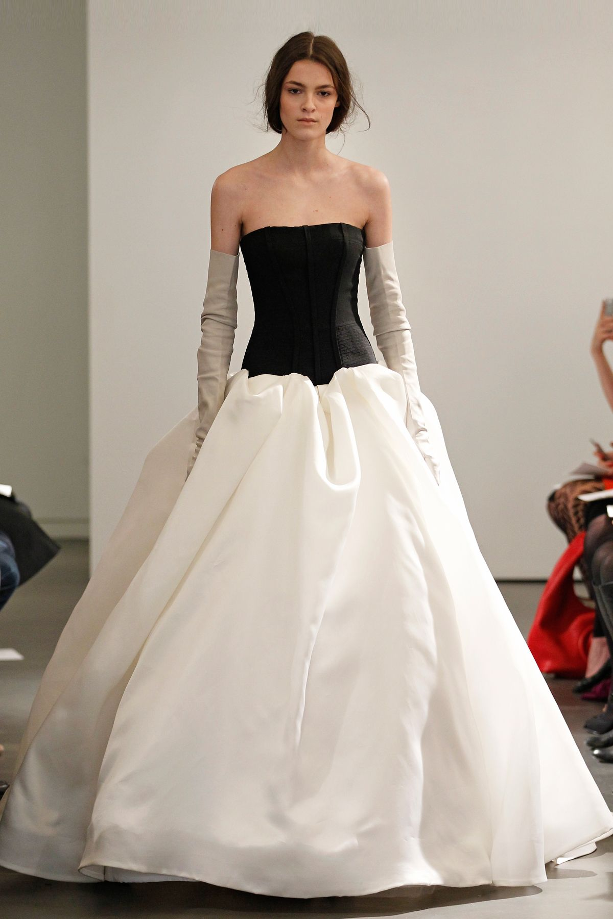 top dresses 2014 this vera **** wedding dress has a black corset