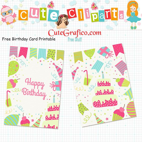 Anniversary Printable Cards Interesting Free Birthday Card Printable  Free Cliparts Svg  Digital Papers .