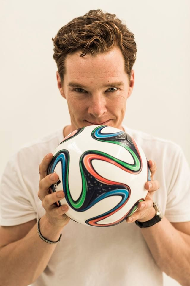 Benedict Cumberbatch (being adorable)-look at the SIZE of his hands.....goodness!