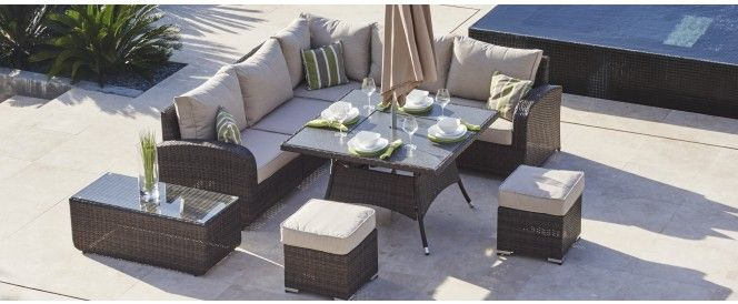 Pin On Rattan Garden Fire Pit Dining Tables