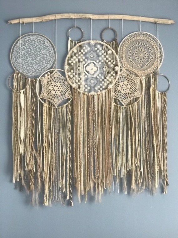 Customizable one-of-a-kind bohemian dream catcher wall mural   Etsy